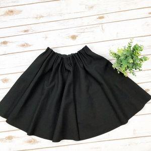 Zara Basics | Black A-Line Skirt